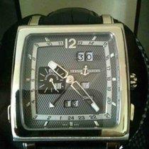 Ulysse Nardin Quadrato Dual Time Perpetual Белое золото 42mm Чёрный