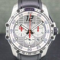 Chopard Superfast tweedehands 45mm Zilver Chronograaf Flyback-functie Datum Tachymeter Rubber