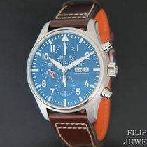 IWC Pilot Chronograph Staal 43mm Blauw Nederland, Maastricht