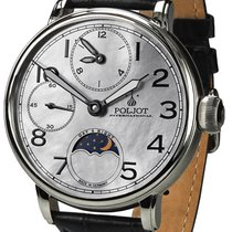 Poljot Steel Manual winding Mother of pearl 43mm new