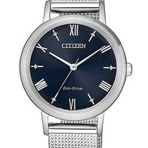 Citizen Steel 30mm Quartz EM0571-83L new