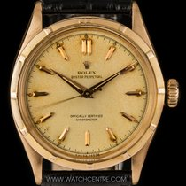 Rolex Vintage Rose Gold  Silver Dial Oyster Perpetual Bubbleback