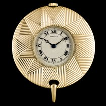 Cartier Uhr gebraucht Gelbgold 38mm Römisch Handaufzug Nur Uhr