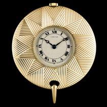 까르띠에 (Cartier) 18k Yellow Gold Cream Roman Dial Pendant Fob Watch