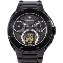 Phantoms new Manual winding Display back Limited Edition Luminous indices PVD/DLC coating 50mm Steel Sapphire crystal