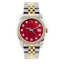 Rolex Datejust Gold/Steel 36mm Red United States of America, New York, NewYork