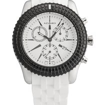 Azzaro Chronograph 41mm Quartz 2017 new White