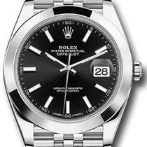 Rolex Datejust 41 126300 Black Index Domed Stainless Steel...