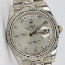 Rolex Day-Date President Original Diamant-Indexe Weißgold Near...
