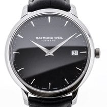 Raymond Weil Toccata 42 Black Leather Strap Black Dial