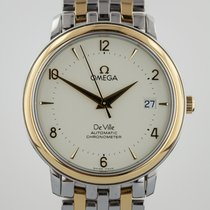 Omega De Ville 18K Yellow Gold and Stainless Steel Mens,...