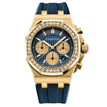 Audemars Piguet Royal Oak Lady Yellow Gold with Diamonds Blue...