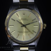 Rolex Oyster Perpetual 34 Gold/Stahl 34mm Gold Keine Ziffern