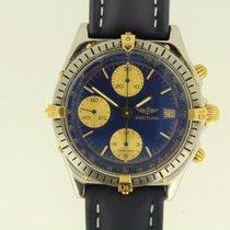 Breitling Chronomat gebraucht 40mm Blau Chronograph Datum Leder