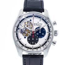 Zenith El Primero Chronomaster pre-owned 42mm Silver Chronograph Date Leather