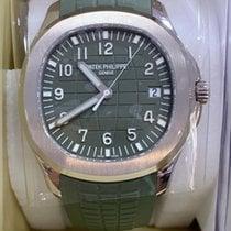 Patek Philippe White gold Automatic Green 42.2mm new Aquanaut