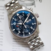 IWC Pilot Chronograph Steel 43mm Blue Arabic numerals United States of America, Virginia, Sterling