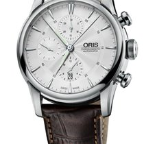 Oris Artelier Chronograph Steel 44mm Grey No numerals
