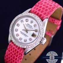 Rolex Lady-Datejust Diamond Dial &  Bezel With Lizard Band