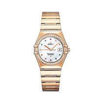 Omega 1140.79.00 Constellation Iris Ladies in Rose Gold with...
