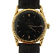 Rolex Rose gold Automatic Black No numerals 33mm pre-owned Oyster Perpetual