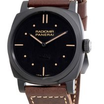 Panerai Ceramic Manual winding Black No numerals 48mm pre-owned Radiomir 1940 3 Days