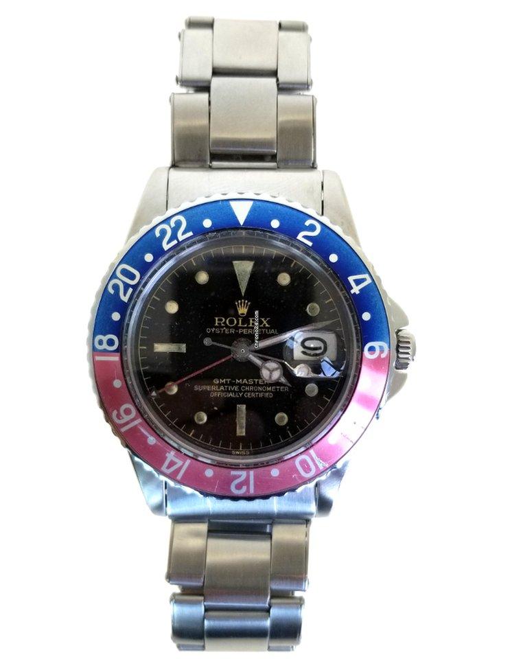 Rolex GMT Master 1675 Pepsi Gilt Chapter Ring PCG c1960