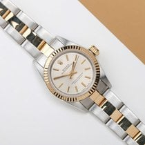 Rolex Oyster Perpetual 26 Acero y oro 26mm Plata