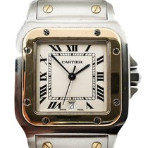 Cartier Santos Galbée pre-owned 31,5mm Gold/Steel