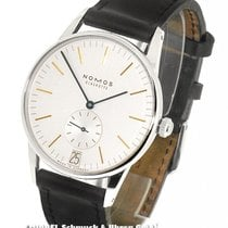 NOMOS Steel Manual winding 38mm pre-owned Orion Datum