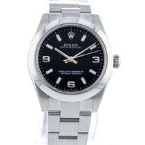 Rolex Steel Automatic Black 31mm pre-owned Oyster Perpetual 31