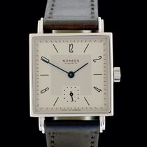 NOMOS Tetra 27 pre-owned 27mm Silver Leather