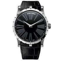 Roger Dubuis White gold Automatic Black Roman numerals 42mm new Excalibur