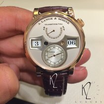 A. Lange & Söhne Red gold Manual winding Silver Arabic numerals 41,9mm new Zeitwerk