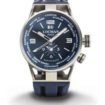 Locman Watch World Dual Time Men's Automatic Chronograph 44mm...