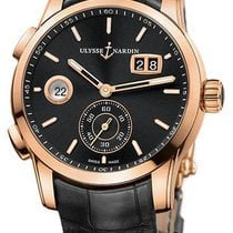 Ulysse Nardin Dual Time 3346-126/92 Very good Rose gold 42mm Automatic