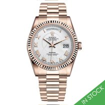 Rolex DAY-DATE 36mm Rose Gold White Roman