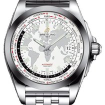 Breitling Galactic Unitime Steel 44mm White United States of America, Iowa