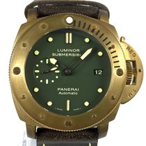 Panerai Bronze Automatic Green No numerals 47mm new Special Editions