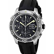 TAG Heuer Aquaracer 500M Steel 43mm Black No numerals