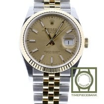 Rolex Datejust Goud/Staal 36mm Champagne