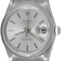 Rolex Oyster Perpetual Date pre-owned 34mm Silver Steel