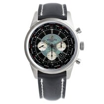 Breitling Transocean Chronograph Unitime Steel 46mm Black No numerals United States of America, New Jersey, Princeton