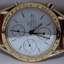 Omega Yellow gold Automatic White No numerals 36mm pre-owned Speedmaster Professional Moonwatch