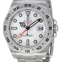 ロレックス (Rolex) Explorer II White dial Stainless Steel GMT...