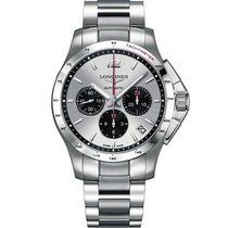 Longines Conquest Chronograph Silver Dial Stainless Steel
