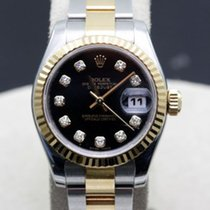 Rolex Datejust 179173 'm' Serial Black Diamond Dial Oyster Two...