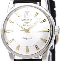 론진 (Longines) Conquest Heritage Steel Automatic Mens Watch...
