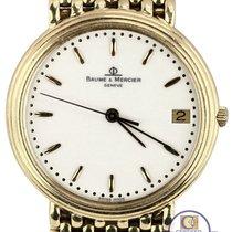 Baume & Mercier Men's Vintage  Geneve 14K Yellow Gold Swiss...