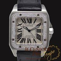 Cartier Santos 100 2656 Diamond Bezel